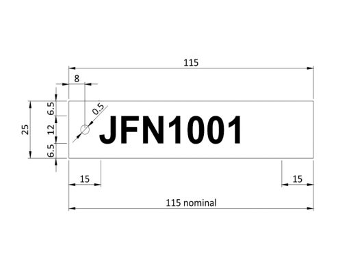Label Tag Dimensions