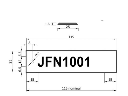 Label Tag Dimensions Bevel