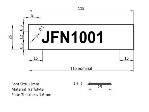 Label Tag Dimensions Overlay Bevel