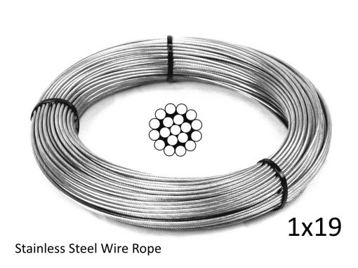 1X19 G316 Stainless Steel Wire Rope Coil with Structure
