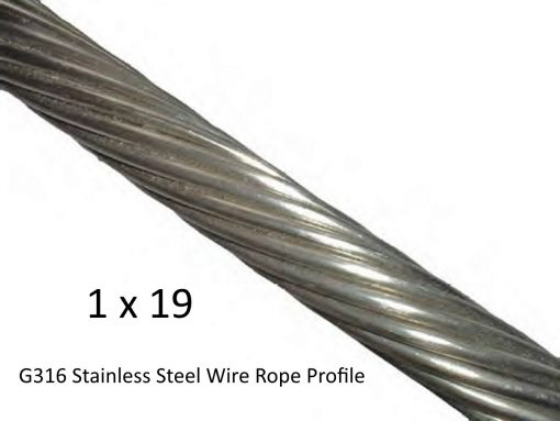 1x19 G316 Stainless Steel Wire RopeProfile