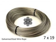7x19 G2070 Galvanized Steel Wire Rope Coil with Structure and Size