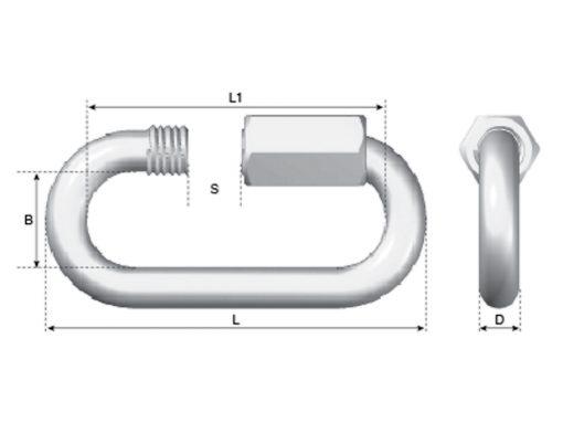 Quick Link Dimension Diagram