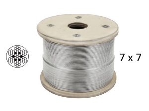 7x7 Clear Coated Stainless Steel Wire Rope