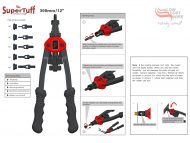 Light Duty Nutsert Tool with RHT Metric Mandrels M3 M4 M5 M6 M8