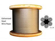 6x19 Galvanized Steel Rope