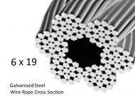 6x19 Galvanized Steel Rope Cross Section
