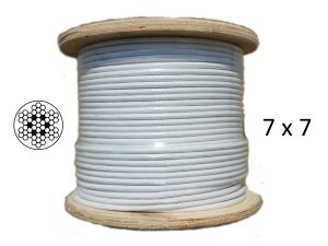 White Coated 7x7 G316 Stainless Steel Wire Rope