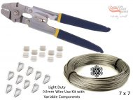0.8mm 7x7 Wire Swages, Thimbles Stainless Tool