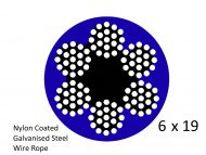6X19 Nylon Blue Coated G2070 Steel Wire Structure