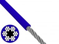 6X7 Blue Coated Steel Wire Structure