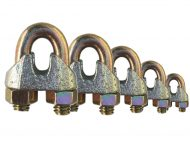 Zinc Plated Commercial Wire Rope Grips